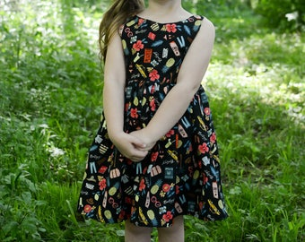 girls dress, toddler dress, summer dress, spring dress, vacation dress, sleeveless dress