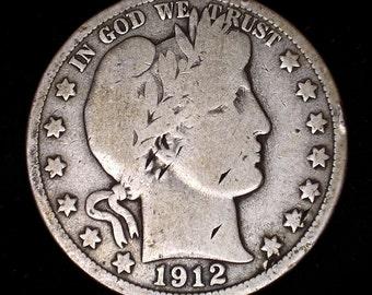 1892-1915 Barber Half Dollar 90% Silver