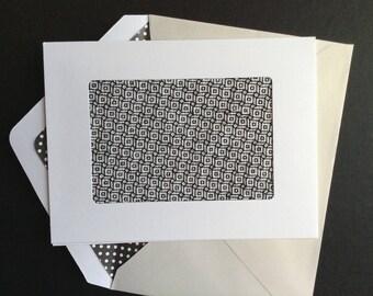 Cross Stitch Card, Father Card, Dad Card, Brother Card, Embroidered Card, Stitched Card, Black Card, Blackwork Card, Blank Card