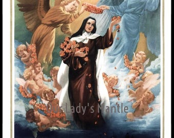 St. Therese of Lisieux Entering Heaven Picture Print Catholic Art