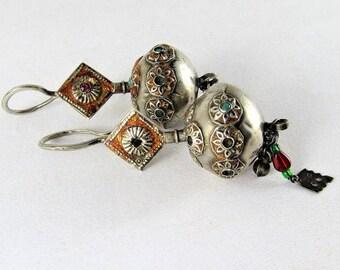 Antique afghan earrings
