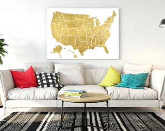 Gold Us Map Etsy - Map of gold in the us