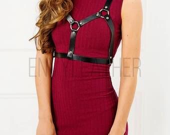 Women harness belt  | leather harness | body harness | handmade harness genuine leather | leather Belt | chest harness