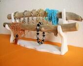 Bracelet holder display stand organizer jewelry watch t bar driftwood shabby modern minimalist storage gift bijoux necklace christmas rustic