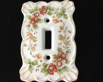 1960's Porcelain Single Switchplate