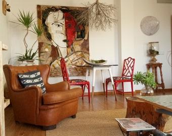 Chairs false bamboo