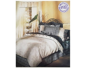 Uncut McCall's 686, 90s Sewing Pattern, Bedding Pattern for Full, Queen, King Beds, Duvet Cover, Pillow Sham, Curtains Pattern Valences
