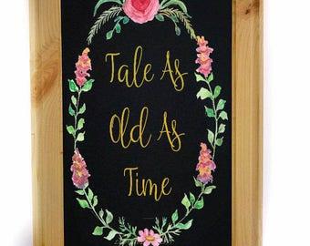 Beauty and Beast Wedding Theme - Wedding Sign - Wedding Chalkboard - Wedding Signs -  Rustic Wedding Sign - Wedding Decor
