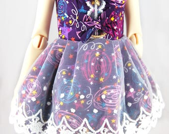 Galaxy BJD  bow dress SD with lace