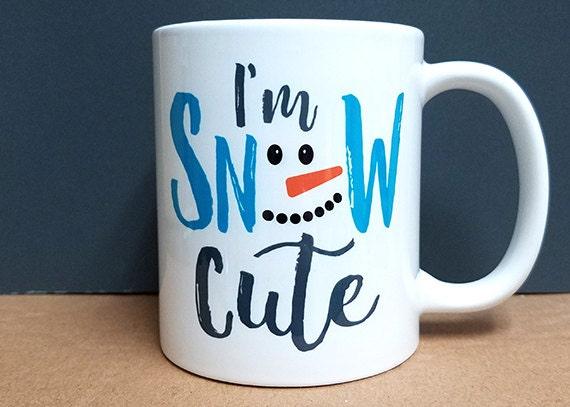 I'm Snow Cute Coffee Mug snowman christmas winter