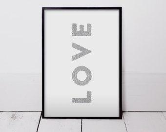 Love Hearts - Art Print
