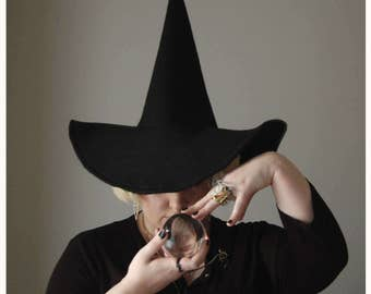 Felt Witch Hat in Black