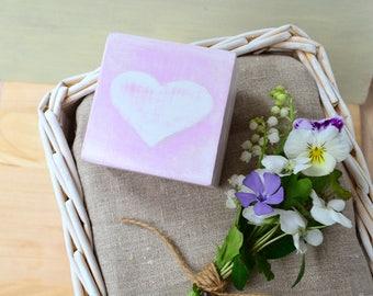 Heart wedding ring box engagement proposal ring box wood jewelry box ring holder bearer box pillow alternative wedding gift personalised box