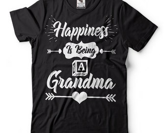 Happiness Is Being A Grandma Mimi Garmmy T-Shirt Custom T-shirt Gift For Grandmother