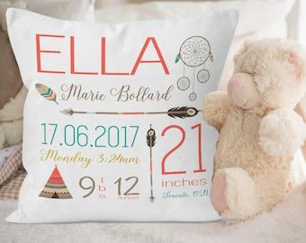 Baby Girl Tribal Nursery Decor, Tribal Baby Pillow, Baby Girl Tribal Nursery Decor, Tribal Nursery Decor, Tribal Baby Bedding, New baby gift