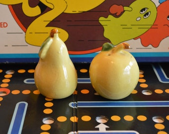 Yellow Pear and Apple Salt & Pepper Shakers