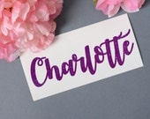 Custom Name Glitter Vinyl Decal, Monogram Sticker
