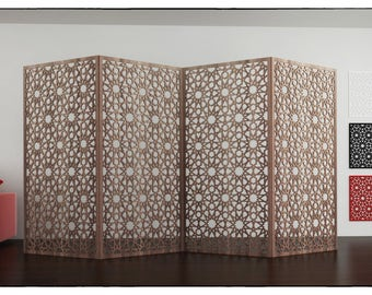ANKARA SCREEN PANEL Islamic geometry arabesques patterns file Arabic template room divider woodworking plans wall panel plasma cut