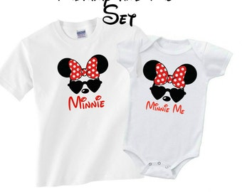 Mommy and Me Outfits, Mom and Daughter Matching Outfits, Mommy and Me, Mom Life, Mommy & Me Set, Disney, Minnie Ears, Disney Family Shirts