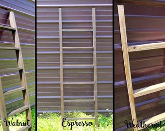 6 Ft. Tall Wooden Ladder, Blanket Hanger, Great For Decorating