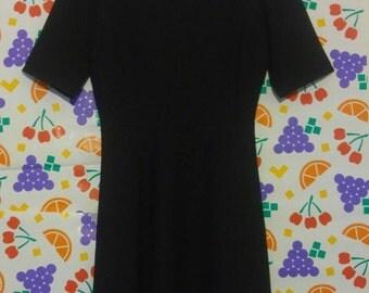 Vintage Black Bowtie Back Dress