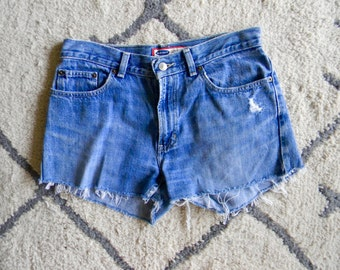 Medium Wash Cutoff Shorts