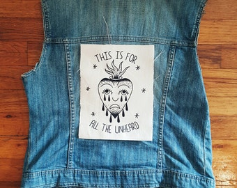 For The Unheard Back Patch Bouncing Souls Backpatch