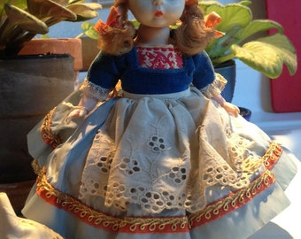 "Madame Alexander Doll ""Dutch"" Girl  Red Shoes"