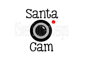 Santa cam Christmas camera SVG instant download design for cricut or silhouette