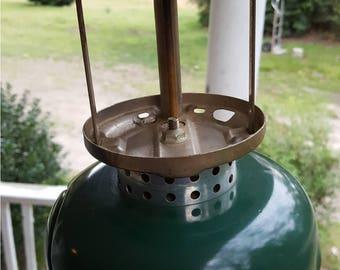 Vintage Camping Coleman 5120 LP Gas Lantern, Missing Glass Globe  - Camping, Lighting, Hiking, Outdoors, Rugged,