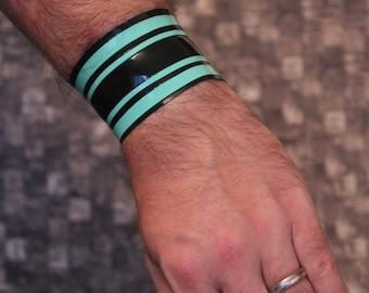 Latex bracelet collar choker garter unisex accessory