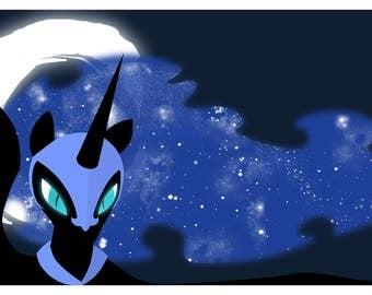 Nightmare Moon Print, Digital Download, My Little Pony, MLP, Friendship is Magic, Princess Luna Print