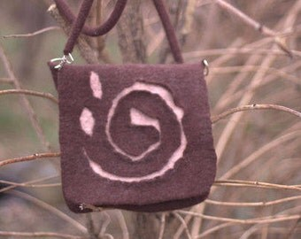 Crossbody bag, Handmade Crossbody Bag, Brown Crossbody Bag, Felted Crossbody Bag, Brown Handbag, Handmade Purse, Felted Purse, Art Bag, Felt