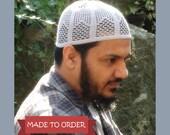 MTO Adult Arches Triangle Filet Kufi Topee Topi Prayer Cap Islamic Islam Muslim Eid Ramadan