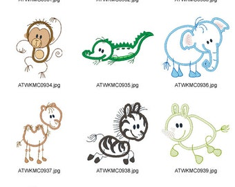 My-Sticky-Zoo APPLIQUE ( 10 Machine Embroidery Designs from ATW )