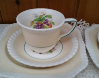 JOHNSON Bros pair of trios,cup,saucer and side plates/English china teaset/ships worldwide from UK