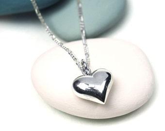Juniper Heart Pendant, Sterling Silver, Silver Heart Pendant, Silver Heart Necklace, Heart Jewelry, Silver Jewelry, Silver Heart, Heart