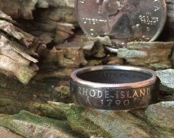 Rhode Island state quarter coin ring