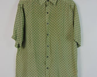 Vintage Green Pattern Shirt