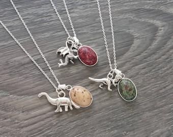 Dragon Egg Necklace - Dinosaur Egg Necklace - Sterling Silver Egg Necklace - Handmade Necklace by LittleMillieShop