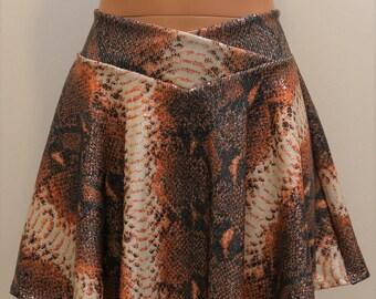 Sequin Skirt Reptile Print