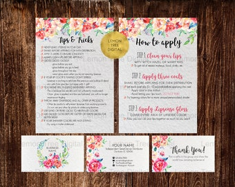 Lipsense how to apply, lipsense tips and tricks, lipsense business cards, thank you card, lipsense business bundle, application instructions