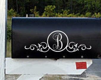 Mailbox Monogram | Mailbox Decal | Mailbox Decoration | Mailbox Sticker | Mailbox | Mailbox Personalization | DECAL ONLY