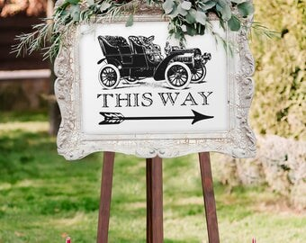 Vintage Wedding Sign for Parking (Printable)