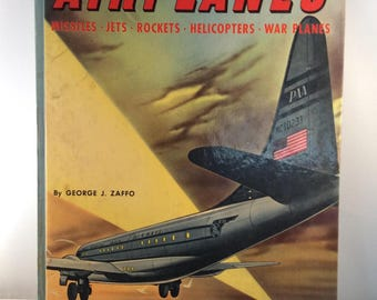 The Big Book of Real Airplanes By George J. Zaffo - Vintage Children's Book (1951)