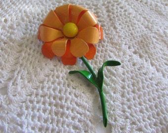 Vintage Flower Brooch/Vintage Mod Brooch/Vintage Flower Pin/Vintage Costume Jewelry/Mod Jewellry/Vintage Mod Jewelry