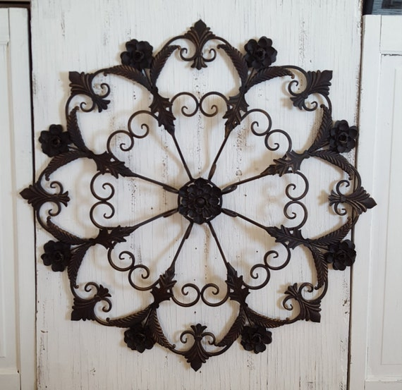 large metal wall large wrought iron wall decor