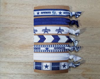 Dallas Cowboys Hair Ties - Fold Over Elastic