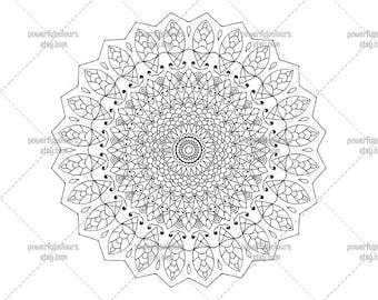 Printable Mandala 6 - Adult Coloring Page - Printable Art - Home Decor - Instant Download PDF