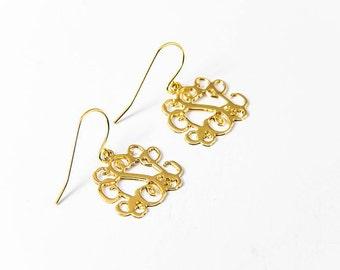 Black Friday Sale 40% off - CUSTOM Earrings: Initials Earrings - Personalized earrings - Christmas Custom gift - Monogram earrings